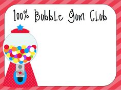 100% Bubble Gum Club {Freebie}