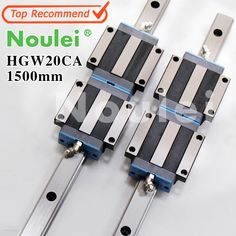 156.60$  Watch now - http://alilac.shopchina.info/1/go.php?t=32721108093 - Noulei HGW20CA slide block with linear guide rail 1500mm HGR20 for CNC z axis HGW20 guia  #magazine