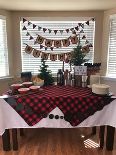 """""""We're so plaid you came"""" 😂 this sign is a MUST Baby Boy First Birthday, Boy Birthday Parties, 2nd Birthday, Birthday Ideas, Lumberjack Birthday Party, Lumber Jack, 1st Birthdays, Buffalo Plaid, Lincoln"""