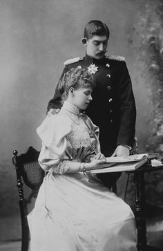 Prince Ferdinand of Hohenzollern-Sigmaringen and Princess Marie of Edinburgh later King and Queen of Romania. Maud Of Wales, Romanian Royal Family, Adele, Royal Families Of Europe, The Royal Collection, Princess Alexandra, Royal Blood, Royal Engagement, English Royalty