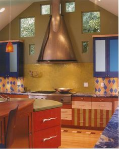 Small Kitchens: 8 Design Ideas to Try : Rooms : Home & Garden Television  Like BOLD colors!