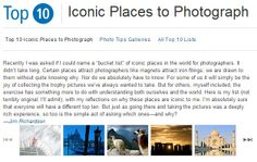 Iconic Places to Photograph