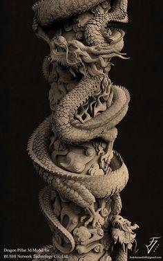 ArtStation - Dragon Pillar, Fredo Viktor