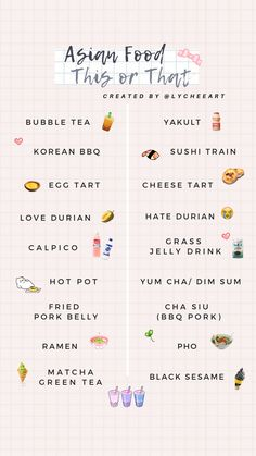 asian food this/ that by - Interaction Instagram Asian, Instagram And Snapchat, Instagram Banner, Instagram Games, Instagram Story Questions, Instagram Story Ideas, Fun Questions To Ask, This Or That Questions, Bingo Template