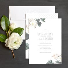Amour wedding invitations make the perfect invite for a beautiful garden wedding