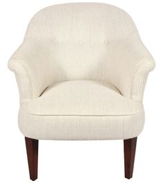 Mersham Chair - Fabric / Colour: Dalton Off White - Chairs White Chairs, Chair Fabric, Tub Chair, Accent Chairs, Armchair, Colour, Room, Furniture, Home Decor