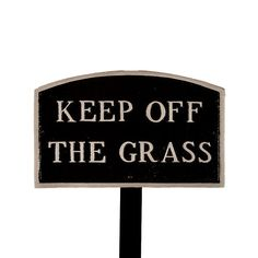 Montague Metal Products SP27smBSLS Small Black and Silver Keep Off The Grass Arch Statement Plaque with 23Inch Lawn Stake -- Check this awesome product by going to the link at the image.