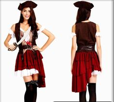 Pirate Costume For Women Adult Halloween Costumes Carnival Clothing Fancy  Dress Caribbean Pirates Costume Masquerade Female 7a6811c486e5