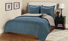 Tramar 3-Piece Reversible Down-Alternative Comforter Set