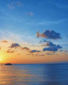 Cozumel sunset Cozumel Island, Caribbean Sea, Tulum, Sunrise, Mexico, Ocean, Celestial, City, Beach