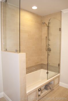 A White Bath On The Waterfront Google Images White Bathrooms - Enclosed tub and shower combo