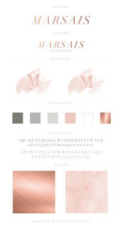 Houston Fine Art Photography Branding | Marsais Photographie Brand Reveal | rose gold feminine watercolor brand board