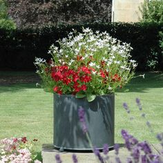 Garden Planters in zinc galvanized steel. High quality bespoke steel planters in square and trough designs. Large, heavy duty planters for exterior use. Large Garden Planters, Backyard Planters, Stone Planters, Door Canopy Porch, Porch Awning, Front Porch, Door Canopy Designs, Wall Trellis, Small Patio
