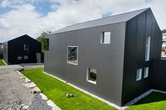 Singelfamily house  Built: 2015 Architect: Marita Hamre  Cladding: Accoya Windows: Ideal Combi Futura+ Architect House, House Built, Cladding, Garage Doors, Windows, Building, Outdoor Decor, Modern, Home Decor