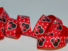 10 yds 7/8 Christmas Red Polka Dot Bow Minnie Mouse by cocoribbon, $9.99- You need this ribbon, Cessily. :)