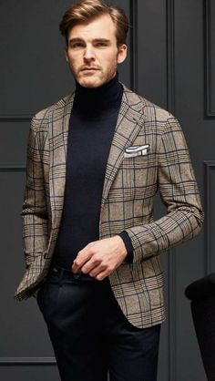 bussiness casual men outfit you can wear everyday during winter 1 Der Gentleman, Gentleman Style, Mens Fashion Suits, Mens Suits, Business Casual Men, Men Casual, Mode Bcbg, Blazer Outfits Men, Men Blazer