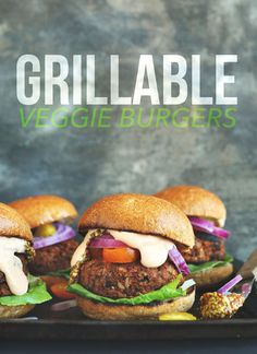 VEGAN GRILLABLE Veggie Burgers! Hearty, flavorful and hold up on the grill or skillet! #vegan #veggieburger #grilling #dinner #healthy #RECIPE