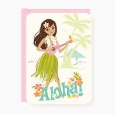 Party Invites - Hula Luau