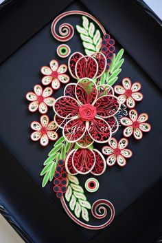 Quilling in Red