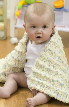 Coziest Baby Blanket Ever Free Crochet Pattern from Red Heart Yarns