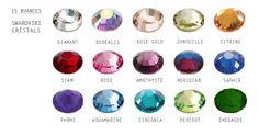 15 nuances de bijoux dentaires en Cristal Swarovski