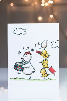 Simon Says Clear Stamps CUTE CHICKS Neat and Tangled Exclusive SSS101608 Spring Plush Preview Image