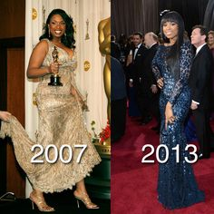 Jennifer Hudson Weight Loss Pictures: Then and Now at the Oscars Weight Loss For Women, Best Weight Loss, Healthy Weight Loss, Weight Loss Tips, Lose Weight, Jennifer Hudson, Then And Now Photos, Weight Loss Pictures, Before And After Weightloss