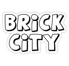 """""""Brick City by Customize My Minifig"""" Stickers by ChilleeW   Redbubble"""