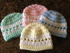 Quick Color-Band Preemie Beanie http://sheepishlysharing.com/2013/04/01/quick-color-band-preemie-beanie/