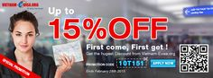 To get 15% Vietnam Visa DISCOUNT, all you need to do is apply this code: VS201415 at http://www.vietnam-evisa.org/ now to get special price for Vietnam Visa On Arrival from now to February 28th 2015.