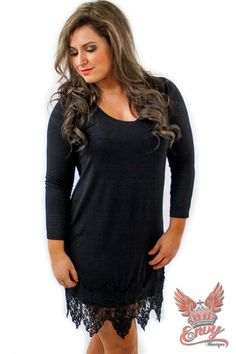 Desire Knit Dress with Lace Trim -$36.95 - Ladies desires a knit dress, and men desire ladies whom wear them. Well this fantastic knit dress, from Envy Boutique, with it accenting lace trim is no exception to the rule. Every lady knows you have to have a little black dress, it servers so many purposes.  | available at http://www.envyboutique.us/shop/desire-knit-dress-lace-trim/ |  #Envy #Boutique #fashion #fashiontrends