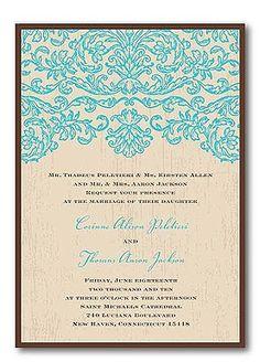 4. Invitation inspiration: turquoise wedding invitations  #ConsumerCrafts #SummerParty