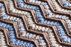 Pin-To-Win: Holiday Home Crochet 101, Crochet Ripple, Manta Crochet, Crochet Home, Crochet Crafts, Crochet Yarn, Crochet Stitches, Knitted Afghans, Crochet Blankets