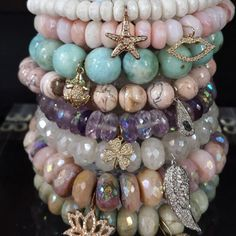Sydney Evan Summer Stacks of Beaded Bracelets at Oster Jewelers. These diamond charm beaded bracelets by Sydney Evan are the sweetest! Wear one or stack as many as you want to create your one-of-a-kind style! Stop by Oster Jewelers today to get yours! @sydneyevan