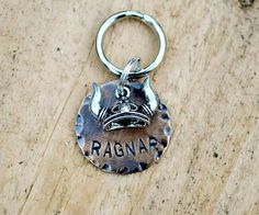"Dog Tag, Pet Tags,  Animal Creations, Pet Accessories, Pet Supplies, ID Tags, ""Vikings"", Collar ID, Personalized, Ragnar, Norse"