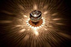 Coconut Lamp Bubble Design Standing
