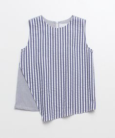 Soccer Stripe No-Sleeve Blouse by chambre de charme iki