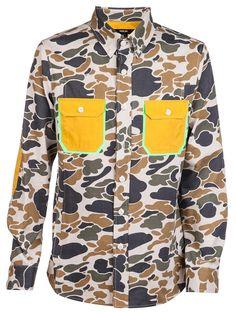 General Idea Camo neon pocket shirt