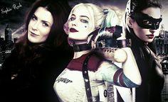 Gotham City Sirens ~ Poison Ivy, Harley Quinn and Catwoman   (Brigite Regan as Poison Ivy)