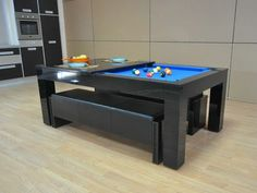 pool table dining top conversion | i'd live in it (library/dining
