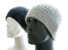 CROCHET PATTERN: The Chunky Guy Beanie for Men Hat by HatsbyElvee