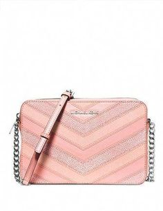 e79395a49461 Michael kors Jet set travel EW crossbody color palepink silver Sales are  final MICHAEL Michael Kors Bags Travel Bags