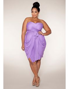 Love this lavender Convertible Dress for a spring or summer wedding! #Sonsi #plus #size