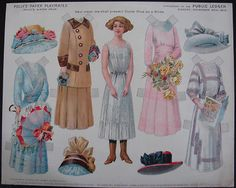 Public Ledger Polly's Paper Playmates Paper Dolls Nov. 20, 1910