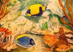 GALERIA PALOMO MARIA LUISA: SIRENA Painting, Mermaid, Scenery, Painting Art, Paintings, Painted Canvas, Drawings