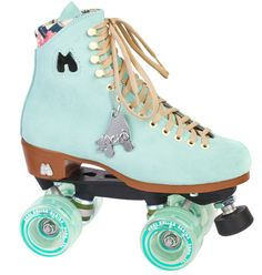 Moxi Roller Skates is a brand of quad-roller skates created by Los Angeles roller derby player, Estro Jen (derby name), Michelle Steilen.While roller derby captured all of the aggressive-typed women, Estro's mission was to harness the acceptance of all women with a desire to be on wheels and look cute while exercising! And that is when Moxi Roller Skates (the brand) was created. Not only will these skates make you stand out from the crowd, but they are incredibly well mad...
