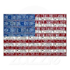 License Plate Flag of the United States USA 2012 Print - Top 5 Seller