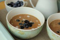 Amaranth Porridge - amaranth, salt, canned coconut milk, coconut oil, honey or other sweetener, cinnamon