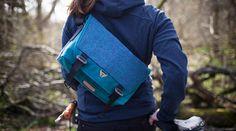 Bairn Harris Tweed mini messenger bag by Trakke of Glasgow, Scotland