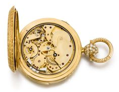 A LARGE AND HEAVY GOLD TRIPLE CALENDAR TWO TRAIN PIVOTED DETENT POCKET CHRONOMETER WITH DEAD CENTRE SECONDS AND QUARTER REPETITION MADE FOR THE RUSSIAN MARKET CIRCA 1850, NO. 31226 [[ 大型黃金全日曆二問懷錶備跳秒指針及雙傳動樞軸式天文鐘擒縱系統,為俄羅斯市場製造,年份約1850,編號31226]] | Masterworks of Time: Splendours for the East 「時間傑作:西器東傳」2020 | Sotheby's Protected Species, Roman Numerals, White Enamel, Pocket Watch, Bracelet Watch, Jewels, Band, Pendant, Accessories